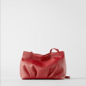Zara Soft Leather NWT Red Bag
